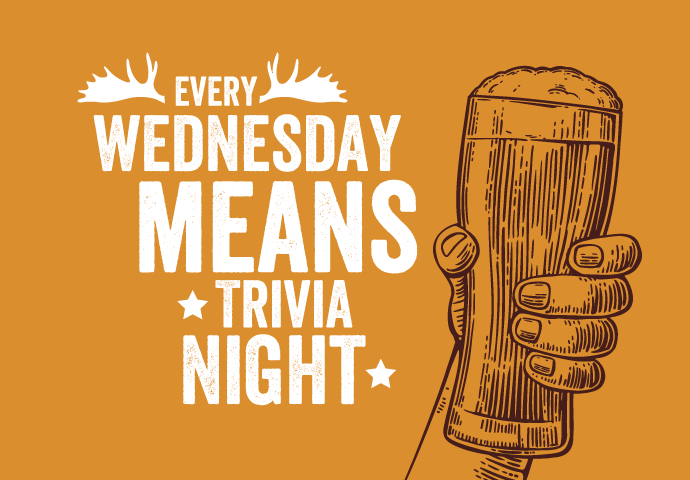 Wednesday means trivia night graphic