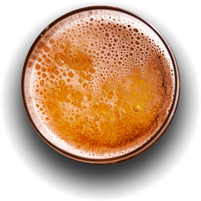 cold beer in a glass
